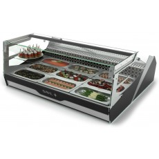Display case refrigerated BLK3 Block with shelf