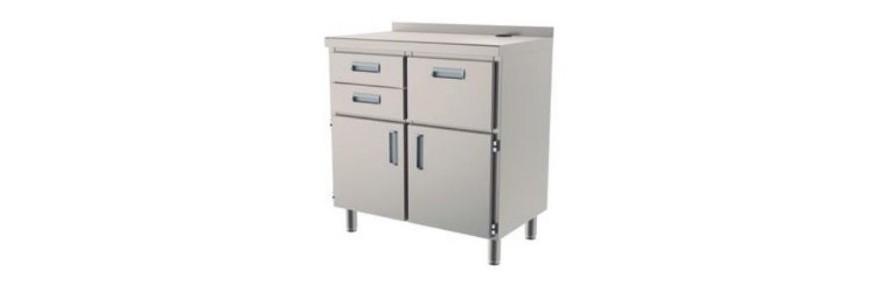 Gran variedad de Muebles de Acero para su cocina profesional, como por