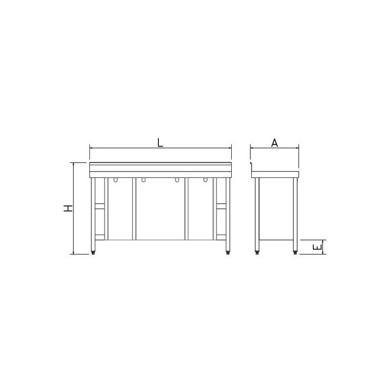 Mueble mural con puertas correderas 200 x 60 x 85 cm for Puertas correderas 60 cm