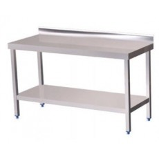 Wall table with 200 x 60 x 85 cm shelving