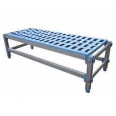 Polyethylene dock of 93.5 x 55.5 x 28 cm