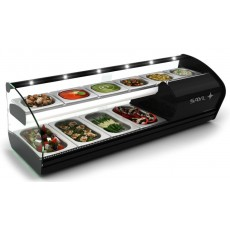 Refrigerated V46 display case with Refrigerated Shelf