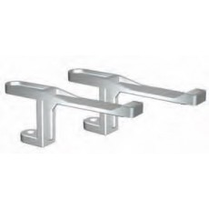 Cantilever brackets for showcases on counter