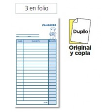 Checkbook waiter 3/f ° Original and copy 10 units