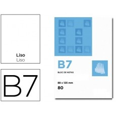 Bloc Notes smooth perforated B7 10 units