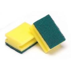 Scourer Salvaunas fiber green 12 units