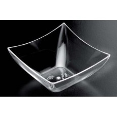 Bowl square PS 7 cl transparent 25 units