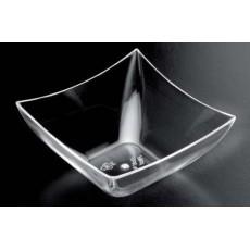 Bowl square PS 7 cl transparent 25 units