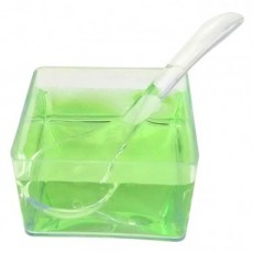 Porta sauces with spoon PS transparent 12 units