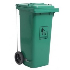 120 L Green trash container