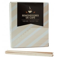 Brush / palette wood rock Remover of coffee 14 cm 1000 units
