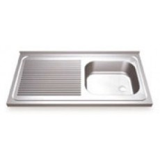Sink to enchase stainless steel right breast.