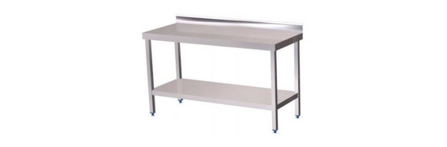 Mural tables with shelf
