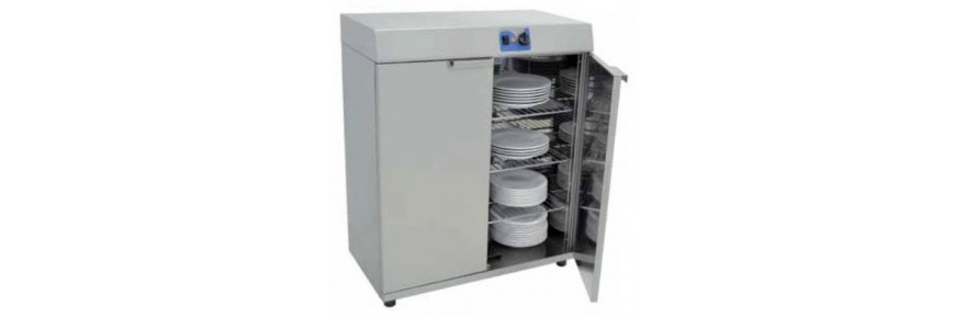 Cabinets heated dishes