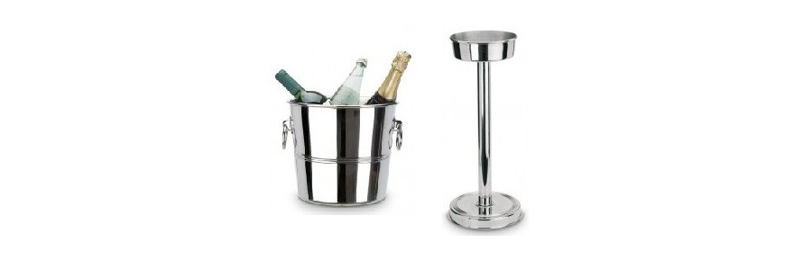 Champagne chiller cubes support sleeve for bottles